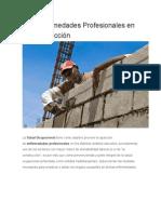 Las Enfermedades Profesionales en La Construcción