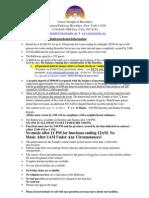 Rental Information sheet