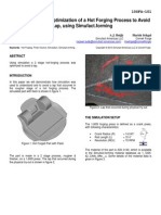 2010.2 Simulation Based Optimization of a Hot Forging Process to Avoid a Lap Using Simufact.forming