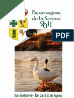 Programa Fiestas San Bartolomé 2011