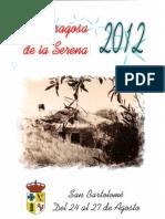 Programa Fiestas San Bartolomé 2012