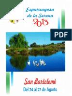 Programa Fiestas San Bartolomé 2013