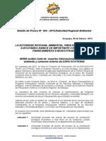 Boletin de Prensa 003 - 2015 - Convenio Eco Trade