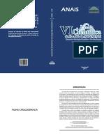 ANAIS DO II WORKSHOP DE PROJETOS E DISSERTAÇÕES -