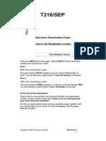 CISCO NETWORKING (CCNA) exam paper