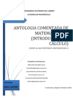 Antologia Comentada Matemáticas IV  (Secuencia 1 - 2015)