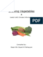 Growing Vegetables - Useful Climate Information; Gardening Guidebook for United Arab Emirates