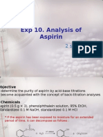 Exp10_Analysis of Aspirin