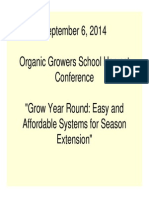 Grow Year Round - Easy & Affordable Systems for Season Extension; Gardening Guidebook