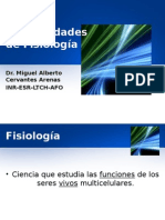 Generalidades en Fisiologa