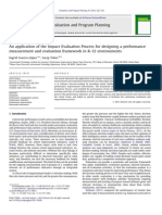 An application of the Impact Evaluation Process for designing a performance measurement and ‎evaluation framework in K-‎‏12 ‏environments