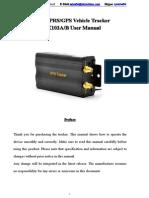GPS Tracker 103AB User Manual-Mariana (1)
