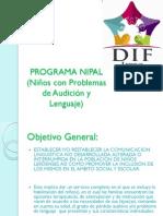 PROGRAMA NIPAL (Niños Con Problemas de Audición