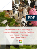 Farmers Markets as a Strategy to Improve Access to Healthy Food for Low-Income Families & Communities