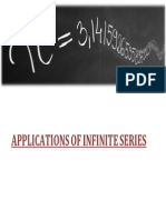 Research on Application of Infinite Series(1st Sem Project)