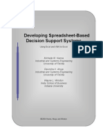 Developing Spreadsheet-Based Decision Support Systems
