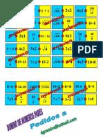 Domino de Operaciones Combinadas Pares