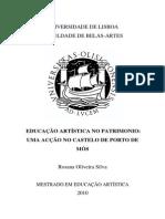 educaçao artistica no patrimonio