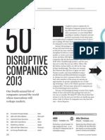 50 Disruptive Companies 2013