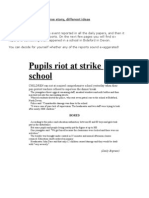 HANDOUT Comparing News Articles School Riot