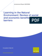 Learning in the Natural Environment Review of Benefits Barriers
