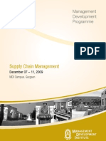 Brochure on Supply Chain Management