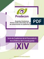 XIV - Acuerdos Conclusivos Primer Medio Alternativo de Solución de Controversias en Auditorías Fiscales
