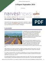 ELIXENS Harvest Report September 2014