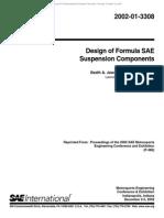 Design of Formula SAE Suspension Components