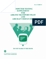 Computer Testing Supplement for Airline Transport Pilot and Aircraft Dispatcher C