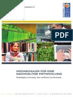UNESCO Broschuere Nachhaltige Hochschulen