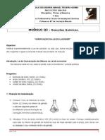 Módulo Q. 3 - Aula de Laboratório - Verificação Da Lei de Lavoisier
