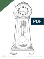 Clock Coloring Page Printable
