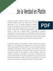 Teoría de La Verdad en Platón