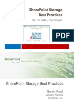 Share Point Storage Best Practices