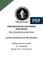 EVALUACION DE SOFTARE EDUCATIVO