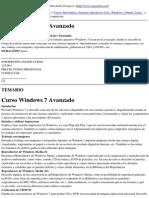 Formacion Cursos Online Enseñalia Zaragoza - Curso Windows 7 Avanzado - 2010-11-16