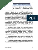 Fuentes Internas y Externas de Financiamiento.