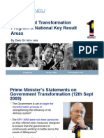 Government Transformation Program & National Key Result Areas