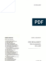 Frankfurt · On bullshit (sobre la manipulación de la verdad).pdf