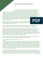 Anuncio Cuaresma 2015 (Papa Francisco)