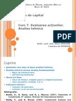 Curs 8. Analiza Tehnica piete de capital