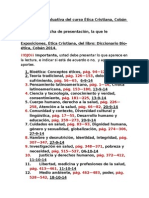 RADIOGRAFIA Evaluativa de Ética Cristiana Cobán 2014.