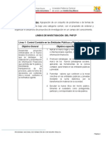 Lineas de Investigación de los PNF en Contaduria