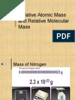 atomic mass and molecular mass