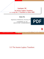 Inverse Laplace Transform for Solving ODE