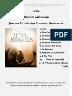 Letra Altar De Adoración Jovenes Ebenezer Guatemla