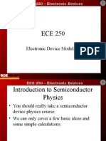 ECE 250 - Lecture 1 - Introduction to Semiconductor Physics