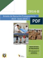 Boletín de Ejecución Presupuestaria Segundo Trimestre
