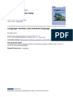 Language Varieties and Standard Language